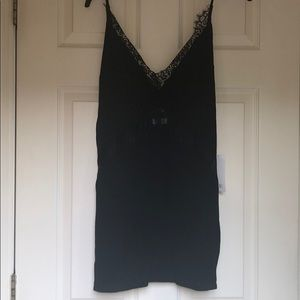 NWT: Tobi Black Tunic With Lace Detail